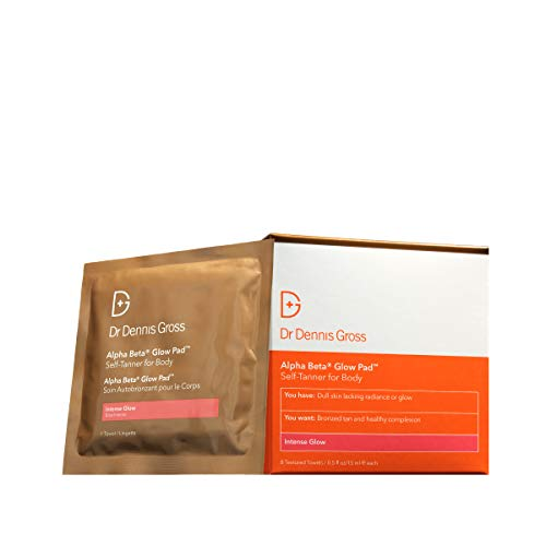 Dr. Dennis Gross Alpha Beta Glow Pad for Body Intense Glow: for Dull Skin Lacking Radiance or Glow, (8 Applications)