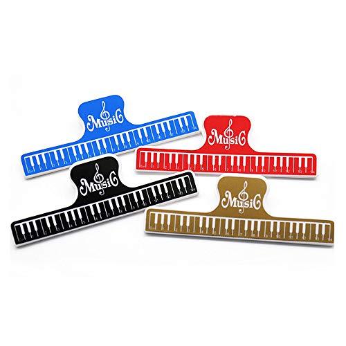 Goodplan 4 Stücke Music Score Clips Hinweis Notenhalter Klavier Druck Clip für Klavier Gitarre Violine Decor