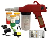 Powder Coating Gun System by Redline Model EZ50 with Bonus Powder Cup Kit, Next Generation U.S. Power Supply and U.S. Airline Adapter