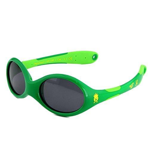 ActiveSol BABY-Sonnenbrille | MÄDCHEN | 100% UV 400 Schutz | polarisiert | unzerstörbar aus flexiblem Gummi | 0-2 Jahre | 18 Gramm [Size S - Monster]