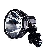 DZX Handheld Xenon HID H3 Xenon Proyector portátil 12V Linterna de vehículo de luz Fuerte de Largo Alcance Adecuado para Acampar Pesca Aventura Salvaje, Linterna de Foco