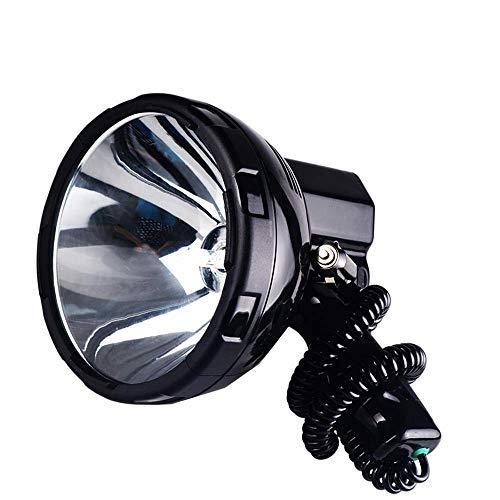 DZX Antorcha LED súper Brillante, Proyector HID portátil Brillante 220W Luz de búsqueda de xenón Caza 12V Proyector 35W, 55W, 65W, 75W, 100W, 160W