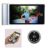 Mirilla Digital WIFI HD 4,3' Deteccion movimiento, Vision nocturna mejorada, Grabacion video, APP movil, Tarjeta MicroSD...