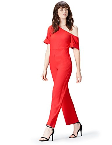 Marca Amazon - find. Mono Asimétrico para Mujer, Rojo (Red Tomato Red), 36, Label: XS