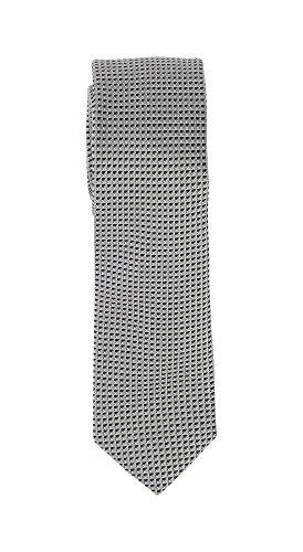 Olymp Herren Seidenkrawatte Slim Struktur- schwarz / weiß 1798 00 67