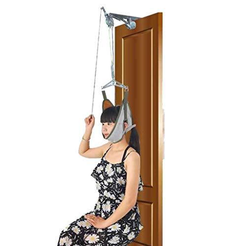 Cervical Traction Hals Massagegerät, Unisex Neck Relax Hammock, Tragbar Traktion Gerät, Nacken Stretcher Anpassung chiropraktische Massagegerät Entspannung Erleichterung Der Schmerzen