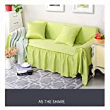 Double-Sided Solid Color Anti-Slip Simple Sofa Cover Slipcover Set Sofa Protectors, All-Inclusive Four Seasons Universal Mat.-H-Chaiselongue