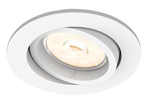 Philips Lighting Donegal Faretto da Incasso, Attacco GU10, Rotonda, Bianco