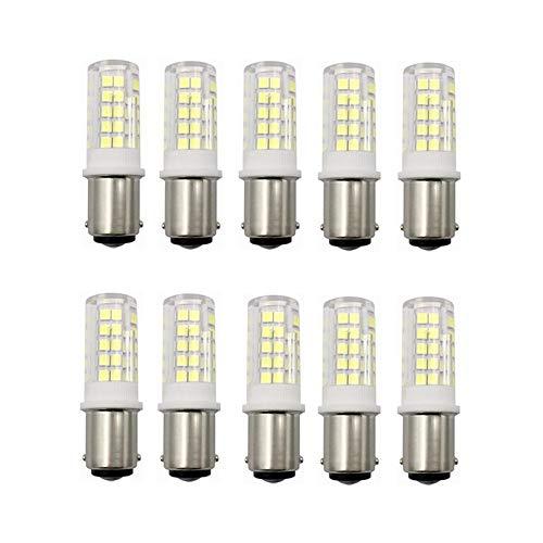 LED-licht, AC200-240 V, 10 stuks, BA15D, bajonetfitting, bajonetfitting, 5 W, LED-gloeilamp, T3/T4/C7/S6, 40 W, dimbaar
