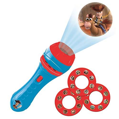 LEXIBOOK Disney, Toy Story-Linterna de bolsillo con proyector 3 discos y 24 imágenes LTC050TS, color ⭐