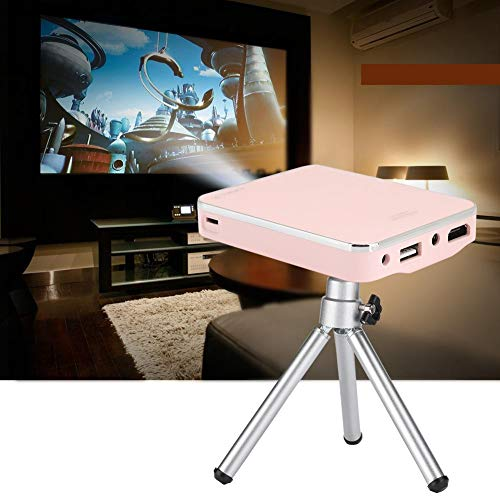 Mini Roze Projector, 4K DLP HDMI 2000 Lumen Professionele Beamer Home Theater Projector - 100