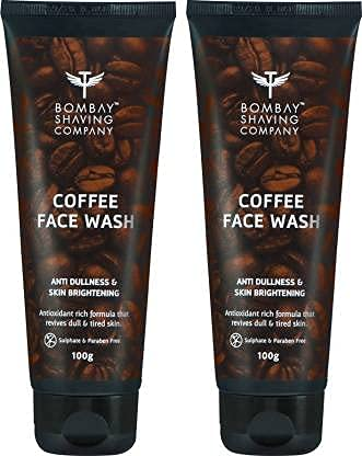 Bombay Shaving Company Coffee Face Wash for Men & Women (Pack of 2) - Deep-Cleanses, De-Tans & Blackhead Removal | Made in India