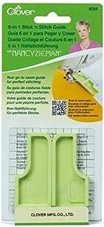 CLOVER Needlecrafts 9584 3 Piece 6-in-1 Stick 'n Stitch Guide by Nancy Zieman