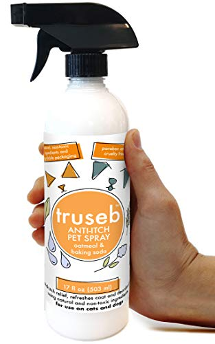 Truseb New All Natural Oatmeal Spray with Baking Soda for Dogs & Cats, Soothing Relief , Dry skin or Damaged Skin, Reduces Odor Made in U.S.A