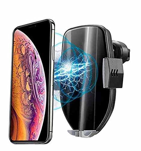 MRTYU-UY Cargador de coche inalámbrico, 2 en 1 10 W rápido inalámbrico auto sujeción de aire ventilación teléfono titular para Samsung Galaxy S10/S9/iPhone 11/11 Pro/8/8 Plus/X/XS/Max/XR