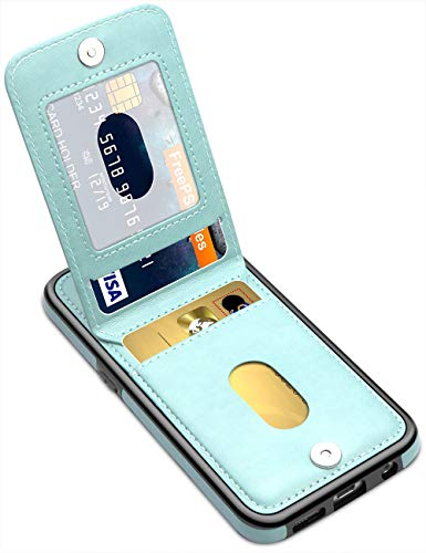 LakiBeibi Samsung Galaxy S7 Case, Premium Leather Anti-Scratch Galaxy S7 Phone Case Wallet with Credit Card Slots Flip Shockproof Protective Case for Samsung Galaxy S7 5.1 Inches (2016), Mint