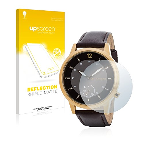 upscreen Entspiegelungs-Schutzfolie kompatibel mit Runtastic Moment Classic – Anti-Reflex Bildschirmschutz-Folie Matt