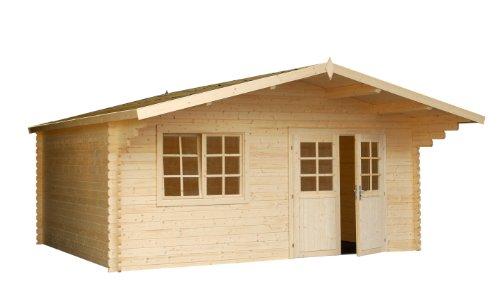 *Palmako Blockbohlenhaus Britta 14,6 40 mm natur*