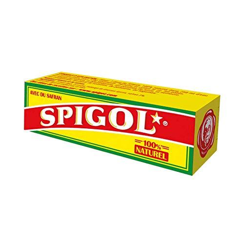 Spigol Épices - 3% de Safran - Parfume et Colore vos Plats - Épices à Paella, Riz, Poisson - 100% Naturel - 10 Dosettes de 0,4g