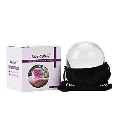 MerryNine Professional Photography Crystal Ball, K9 Crystal Glass Ball with Pouch (70mm, K9, with Pouch)