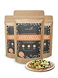 Simply Keto Low Carb & Keto Pizza Baking Mix - Para 6 pizzas o 3 bandeja de pizza - Sólo 2,8g de carbohidratos por 100g - Proteína vegana - Sin gluten y bajo en calorías - 3x 290g