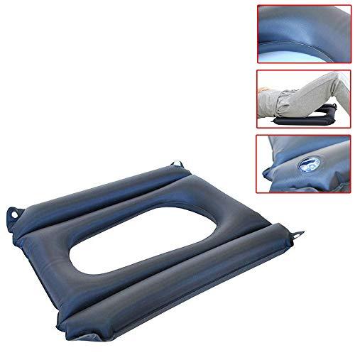 YxnGu Air Aufblasbares Sitzkissen für Rollstuhl und Toilettenstuhl - Anti-Dekubitus-Patienten-Luftkissen mit Loch für Auto, Büro