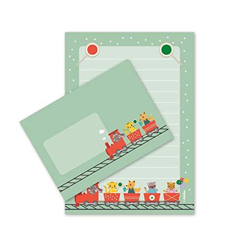 25 BlattNEU DIN A5 dabelino Lama-Briefpapier-Set für Kinder
