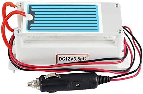 TIANXIAWUDI Ozonizador,Generador de ozono para Coche 10G Placa de cerámica Purificador de Aire 12V además de esterilización con formaldehído Fácil de Usar Profesional DIY Adecuado para automóviles