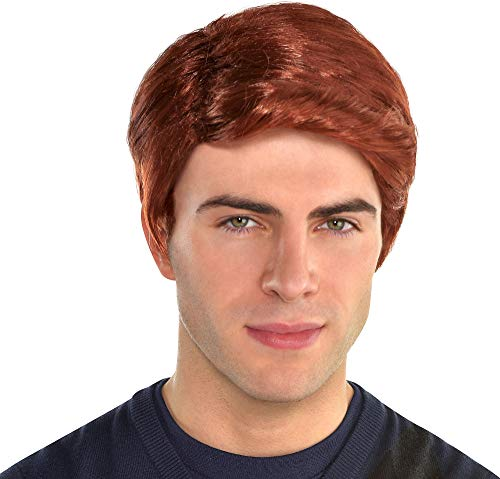 Mens Red Hair Wig Costume