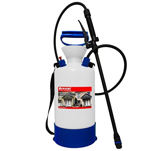 Drucksprüher säurebeständig 6 Liter - ideal für Algenentferner Flechtenentferner Moosentferner Pilzentferner - Gartenspritze Handsprüher Drucksprügerät