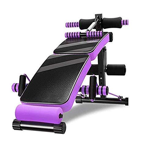 Banco de pesas para ejercicios de levantamiento Equipo de fitness de la cama de levantamiento de pesas del hogar Máquina de ejercicio abdominal multifuncional plegable plegable ( Color : B )
