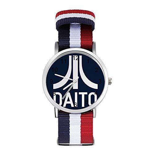 Daito Atari Logo Ready Player One Tempo Libero Cinturino Orologi Intrecciato Orologio con Scala