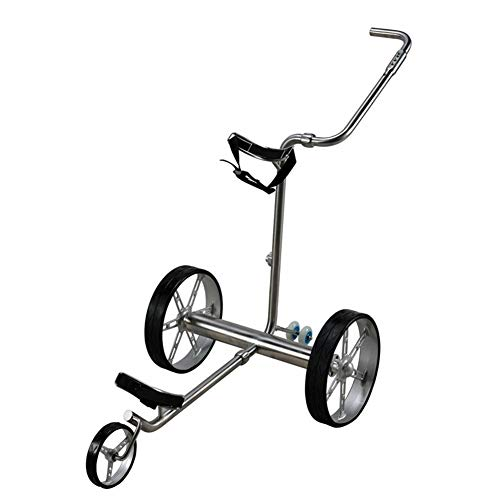 LCHENX-Remote Control Electric Golf Push Cart with Charger Battery and Remote Control Aluminum Golf Trolley for Outdoor Travel Sport