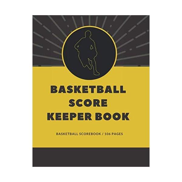 basketball score keeper book: basketball scorebook | basketball scoring book | score...