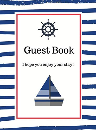 Nautical Guest Book Hardcover