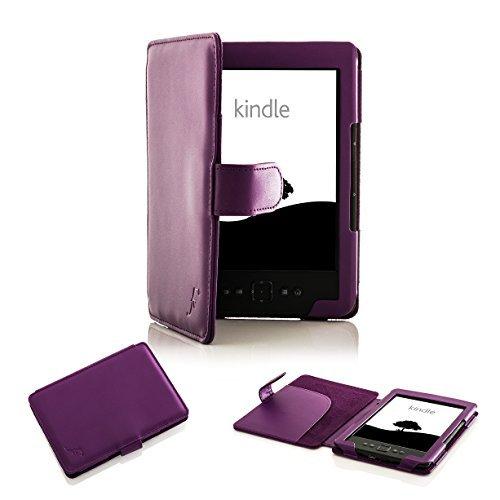 Forefront Cases Funda para Amazon Kindle (4a y 5a Generación - 2012 Modelo) Funda Carcasa Stand Case Cover- Extra Robusto y Protección Completa del Dispositivo - Púrpura