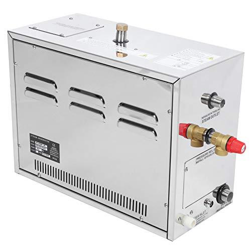 Generatore di Vapore, 6KW Autosvuotante Timer 30Min-12H Spegnimento 25-55 ℃ Automatico costante Sauna Bagno Steamer Generatore Doccia a Vapore con Controller Esterno per Bagno Turco