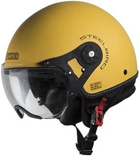 Steelbird Hi-Gn SBH-10 Bunker Matt Moon Yellow with plain visor,600 mm (Large)