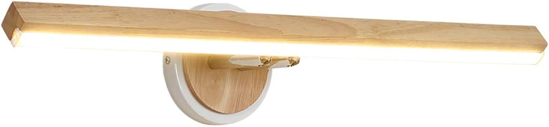 LED Holz Lampe Badezimmer Spiegel Scheinwerfer Schlafzimmer Bett Wohnzimmer Rechteckige Toilette Led Spiegel Schrank Scheinwerfer Lampe Moderne Einfachheit Wasserdichte Make-up Wandlampe Wandlampen
