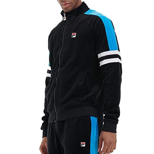 Fila Shay Velour - Chaqueta de chándal para hombre (talla XXL), color negro