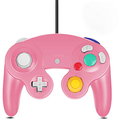 Gamecube Controller, Classic Wired Controller for Wii Nintendo Gamecube (Pink)