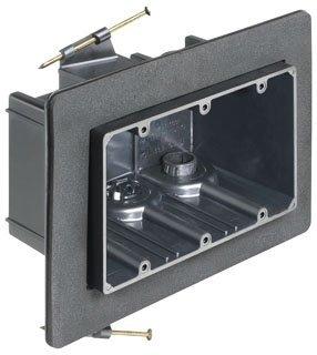 ARLINGTON FN103F Non-Conductive Plastic 3-Gang Non-Metallic Vapor Box 8.125 Inch x 5.990 Inch x 3.510 Inch 63.5 Cubic-Inch One-Box