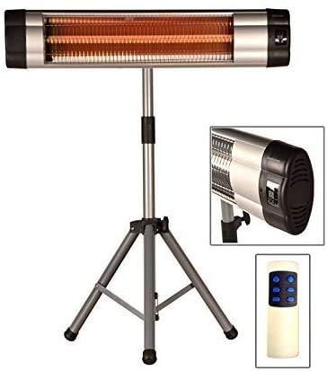 DRULINE Infrarot Heizstrahler Standheizer Terassen Strahler Fernbedienung Modell 1 – m. Thermostat - 2