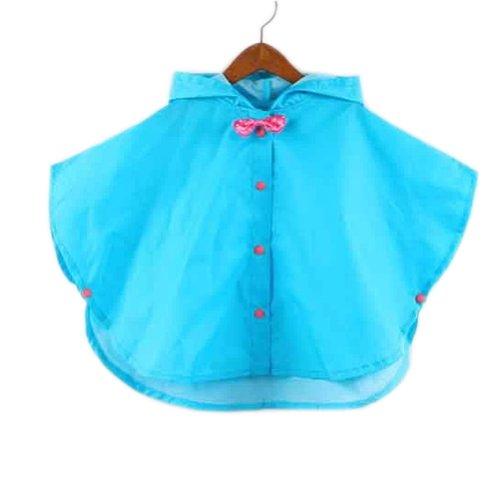 Toddler pluie Jour Veste bébé Veste de pluie imperméable Bleu Bowknot S 2–3Y