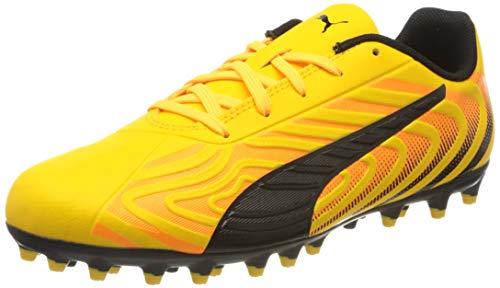 Puma One 20.4 Mg Jr, Unisex-Kinder Fußballschuhe, Gelb (Ultra Yellow-Puma Black-Orange Alert 01), 30 EU