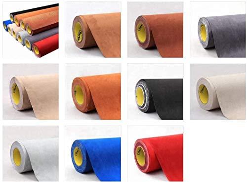 folimac Interieur Wildleder Folie Mikrofaserstoff selbstklebend - ähnlich Alcantara, Wildleder Optik 50cm x 142cm + Rakel und cuttermesser (Blau)