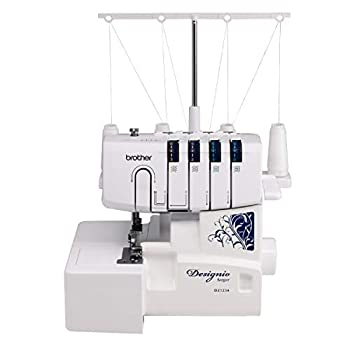 Brother Serger DZ1234 Metal Frame Overlock Machine 1,300 Stitches Per Minute Removeable Trim Trap 3 Included Accessory Feet and 2 Sets of Starter Thread