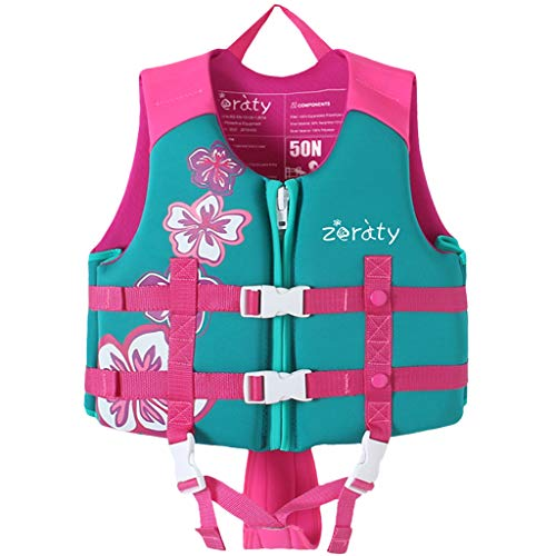 Zeraty Kids Swim Vest Life Jacket Flotation Swimming Aid for Toddlers with Adjustable Safety Strap Age 1-9 Years/22-50Lbs