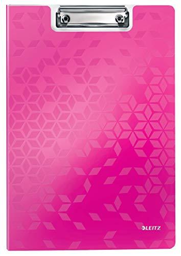 Leitz 41990023 Klemmmappe WOW, A4, pink metallic