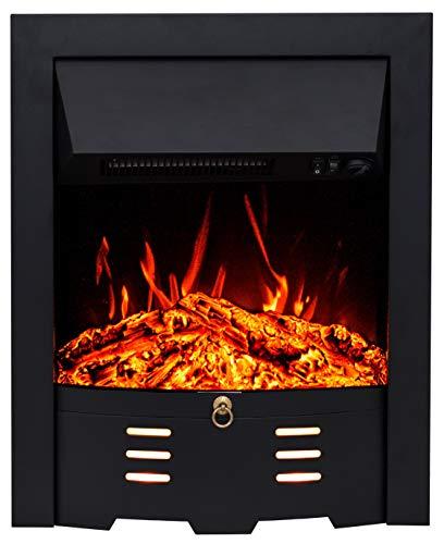 Noble Flame Bedford – Elektrokamin-Einsatz – Moderne LED Technik inkl. Heizfunktion – täuschend echtes Feuerambiente - Schwarz
